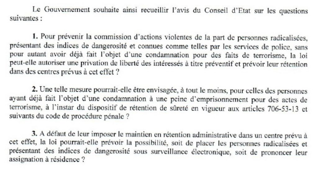 Question Valls Conseil d'Etat